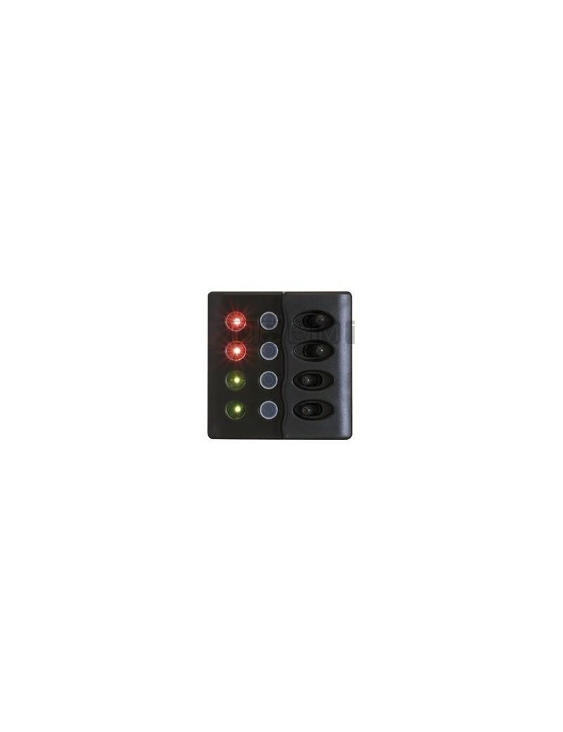Pannello New Zeelander LED 4 interruttori mm 98 x 98