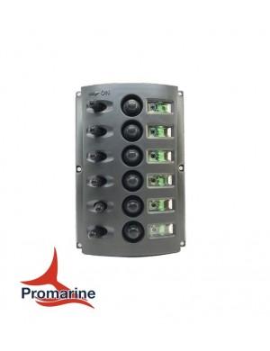 Pannello con fusibili automatici e doppio LED mm 165 x 115