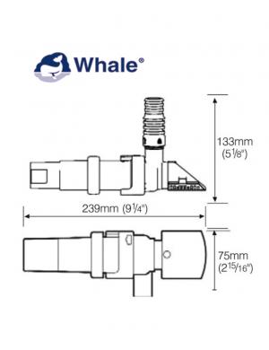 Pompa di sentina automatica WHALE supersub smart 1100 12V