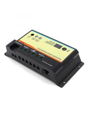 Regolatore di carica REGDUO 10A 12/24V 2 batterie