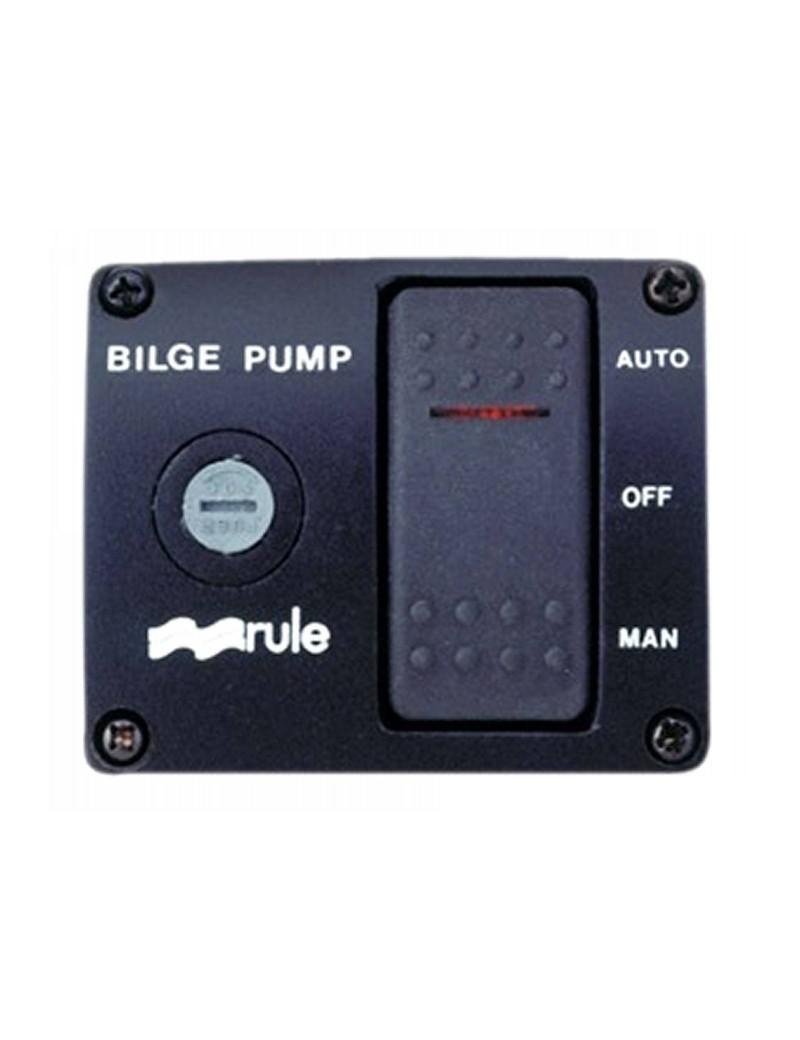 Pannello controllo RULE 12V pompe di sentina universale mm 62 x 75