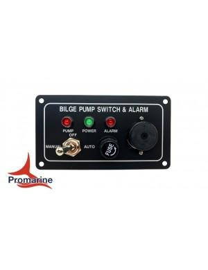 Pannello di controllo per pompe di sentina elettriche mm 120 x 65