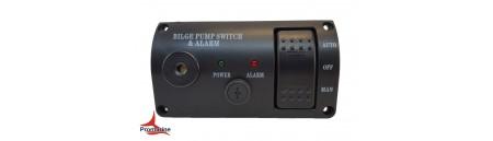 Pannello con allarme per pompe di sentina mm 114 x 63