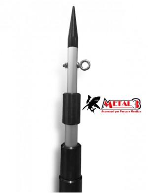 METAL3 Divergente in Alluminio anodizzato mt. 5,50