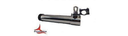 Porta canne in acciaio INOX con morsetto per tubi da 25/30 mm