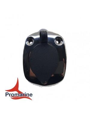 Porta canne inclinato ad incasso in acciaio INOX mm base 111 x 88 x H200