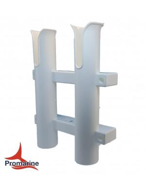 Porta canne a parete in plastica 2 posti mm 220