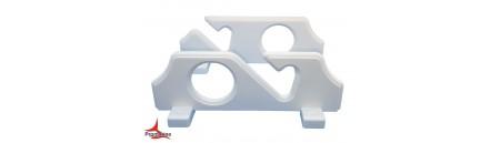 Reggi canna da parete o da sotto tetto in plastica per 2 canne cm 22,5