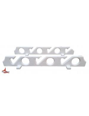Reggi canna da parete o da sotto tetto in plastica per 6 canne cm 55,5