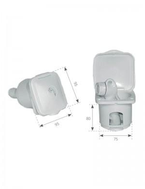 Contenitore in PVC per doccetta Top Line