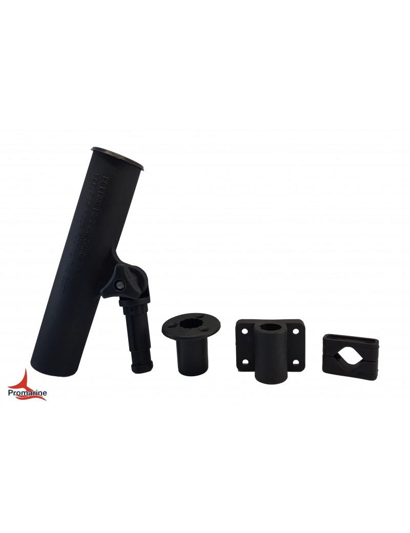Portacanne regolabile in plastica con attacco a parete, per tubi 22/25 mm ed incasso