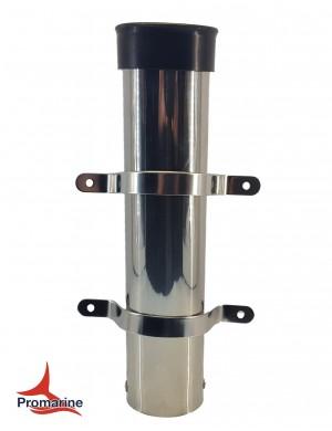 Porta canne a parete in acciaio INOX mm H230 interasse fori staffe mm 101