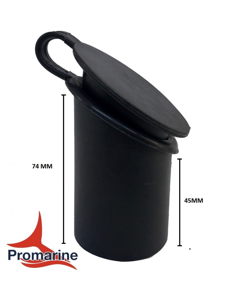 Boccola interna in plastica per porta canne mm 49