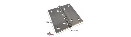Cerniera a libro in acciaio INOX mm 100 x 100