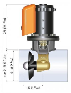 KIT Elica di manovra QUICK mod: BTQ180-7512 (75KGF 4 KW) 12V (barche 10/13 mt)