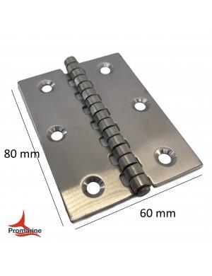 Cerniera a libro in acciaio INOX mm 60 x 80