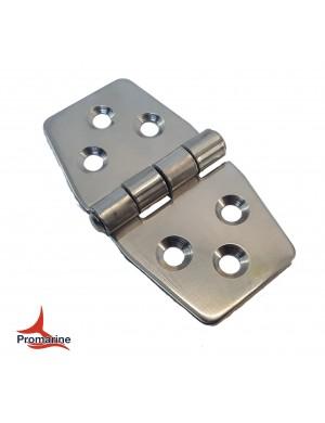 Cerniera a biscotto in acciaio INOX perno superiore mm 76 x 44