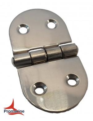 Cerniera a biscotto in acciaio INOX perno centrale mm 74 x 37