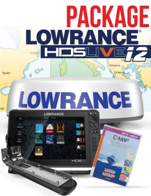 Package Lowrance HDS Live 12 Active Imaging 3 in 1 con Radar e C-map