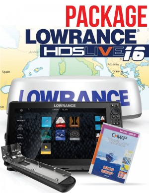 Package Lowrance HDS Live 16 Active Imaging 3 in 1 con Radar e C-map
