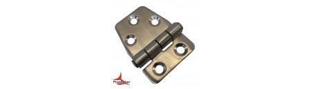 Cerniera Eccentrica S in acciaio INOX perno superiore mm 40 x 38