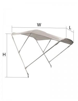 Tendalini a 3 archi in alluminio BIANCO