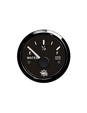 Indicatore livello acqua cornice e quadrante NERO segnale-impedenza 240-33/10-180 O mm 57 x 51