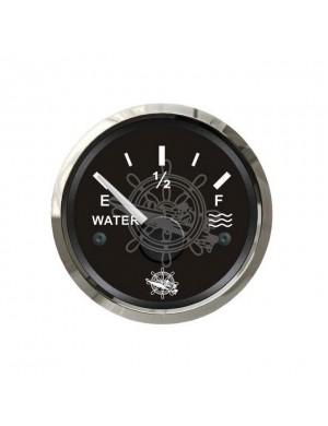 Indicatore livello acqua quadrante NERO e cornice INOX segnale-impedenza 240-33/10-180 O mm 57 x 51