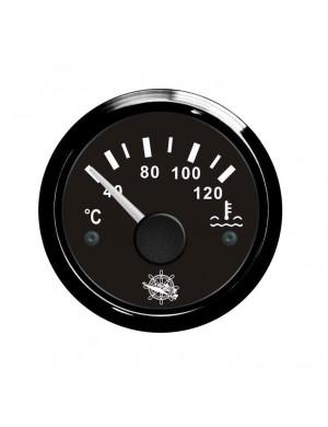 Indicatore temperatura acqua cornice e quadrante NERO mm 57 x 51