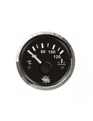 Indicatore temperatura acqua quadrante NERO e cornice INOX mm 57 x 51