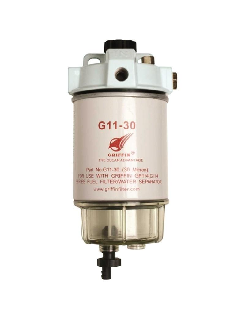 Filtro Separatore Acqua Gasolio GRIFFIN GP114  30 micron 114 lt/h per motori Diesel    (tipo Racor 230R)