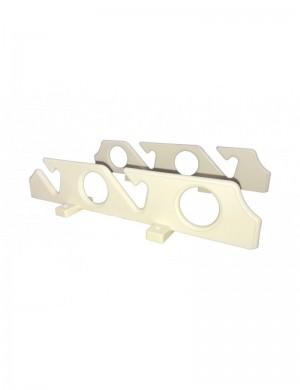 Reggi canna da parete o da sotto tetto in plastica per 4 canne cm 38,5