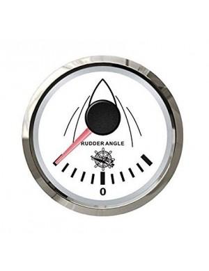 Indicatore angolo barra quadrante BIANCO e cornice INOX segnale-impedenza 0-190 O mm 57 x 51