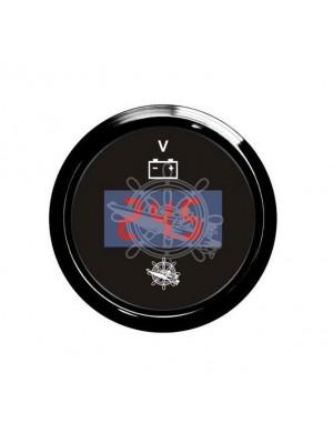 Voltometro DIGITALE cornice e quadrante NERO scala 8/32 Volt mm 57 x 51