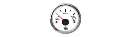 Indicatore livello acque nere quadrante BIANCO e cornice INOX segnale-impedenza 10-180 O mm 57 x 51