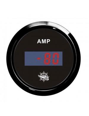 Amperometro DIGITALE cornice e quadrante NERO scala ampere -80 +80 A mm 57 x 51