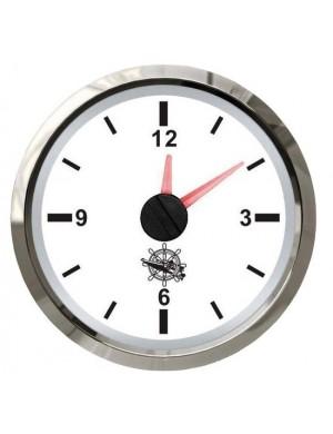 Orologio quadrante BIANCO e cornice INOX mm 57 x 51