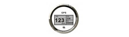 Spidometro / contamiglia GPS (bianco+cornice inox)