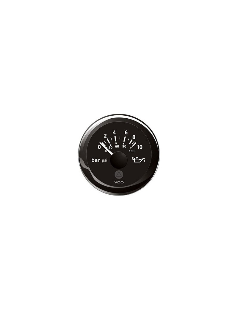 Indicatore pressione olio VDO View-Line mm 52 ghiera NERA