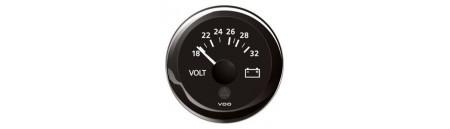 Voltometro VDO View-Line mm 52 ghiera NERA