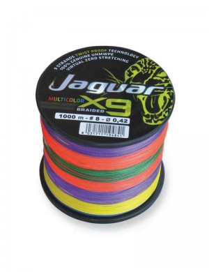 Jaguar Multicolor Braided X9 1000 metri