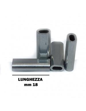 Manicotti in alluminio ovali LUNGHI cf.1000 pz