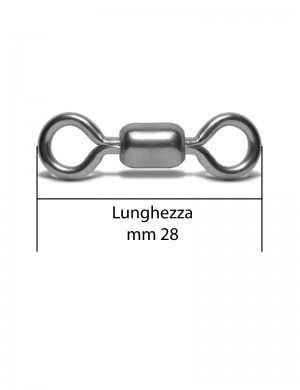 Girella Crane Nickelata Mis. 2/0 310Lbs 1000pz