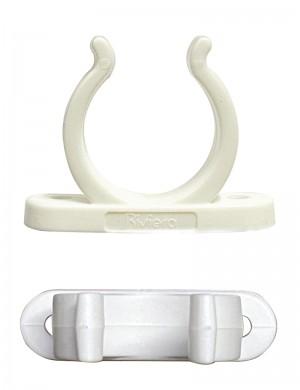 Clip in Nylon Bianco 30mm