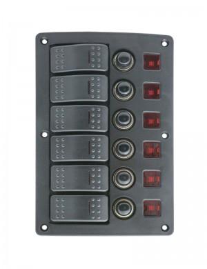 Pannelli interruttori 9/32V, 6 pulsanti