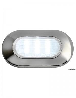 Luce Cortesia Inox 6 Led Bianco 12v 39 x 72 mm