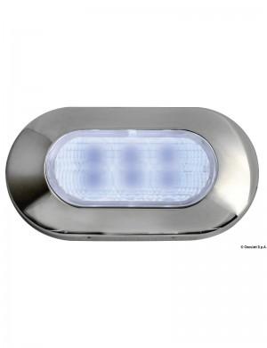 Luce Cortesia Inox 6 Led Blu 12v 39 x 72 mm
