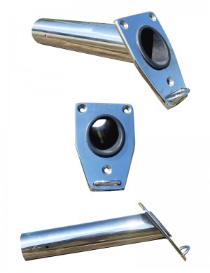 Portacanne Ad Incasso Metal 3 In Acciaio INOX con Anello