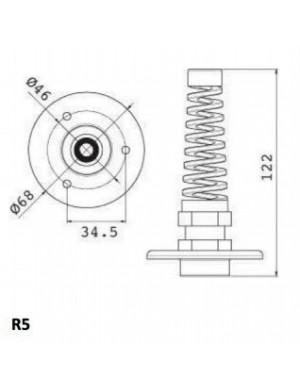 Passaparatia R5 per tubo idraulico