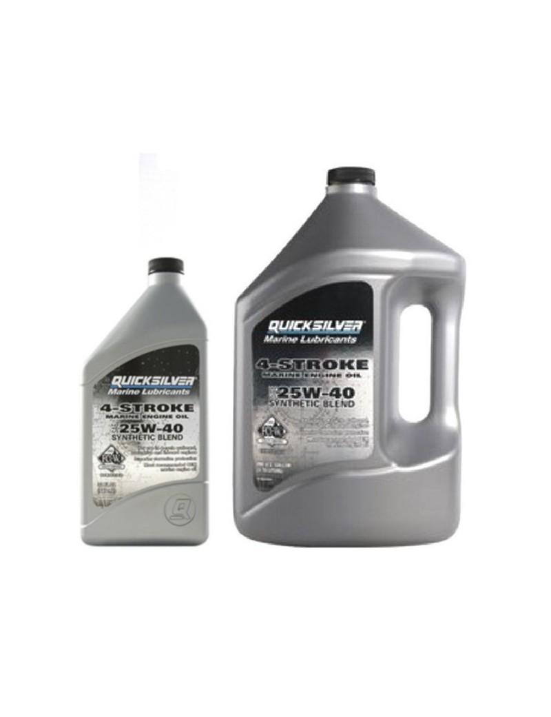 Olio motore 4 tempi Synthetic Blend SAE 25W-40 per fuoribordo